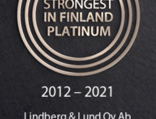 The Strongest in Finland Platinum-certificate